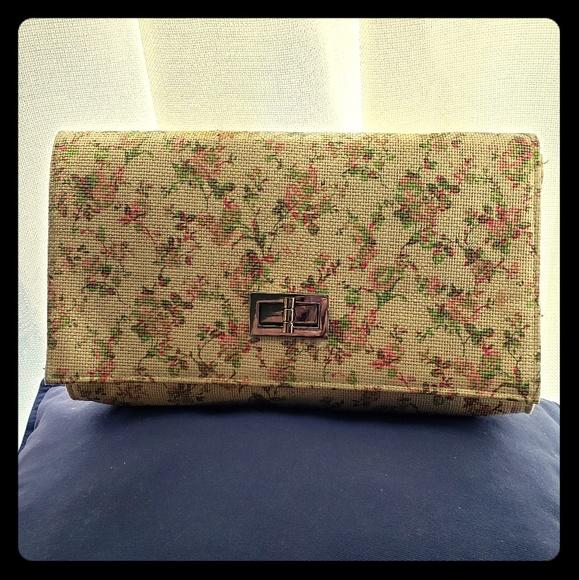 H&M Handbags - Woven Straw Clutch